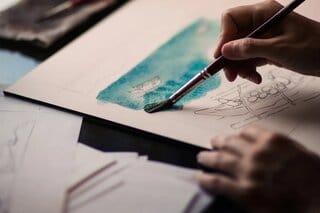 stress verlagen door te schilderen en creatief bezig te zijn